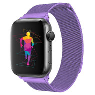 Magnetic Mesh Band Stainless Steel Watch Strap for Apple Watch 44mm / 42mm - Purple