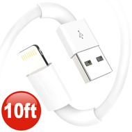 *SALE* 10 Ft. Lightning Connector to USB Charge and Sync Cable - White