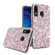 *SALE* Pearl Seashell Dual Layer Hybrid Case for Samsung Galaxy A50 / A20 - Pink