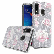 Pearl Seashell Dual Layer Hybrid Case for Samsung Galaxy A50 / A20 - Roses