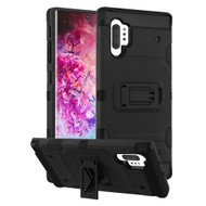 Military Grade Certified Storm Tank Hybrid Armor Case with Stand for Samsung Galaxy Note 10 Plus - Black