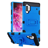 Military Grade Certified Storm Tank Hybrid Armor Case with Stand for Samsung Galaxy Note 10 Plus - Blue