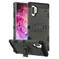 Military Grade Certified Storm Tank Hybrid Armor Case with Stand for Samsung Galaxy Note 10 Plus - Dark Grey