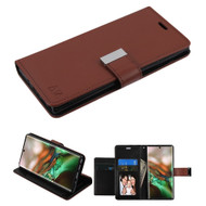Xtra Series Essential Leather Wallet Stand Case for Samsung Galaxy Note 10 - Brown