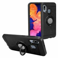 Multifunctional Hybrid Armor Case with Smart Loop Ring Holder for Samsung Galaxy A10e - Black