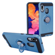 Multifunctional Hybrid Armor Case with Smart Loop Ring Holder for Samsung Galaxy A10e - Ink Blue