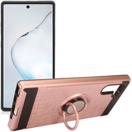 *Sale* Multifunctional Hybrid Armor Case with Smart Loop Ring Holder for Samsung Galaxy Note 10 - Rose Gold