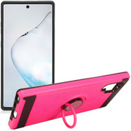 Multifunctional Hybrid Armor Case with Smart Loop Ring Holder for Samsung Galaxy Note 10 Plus - Hot Pink