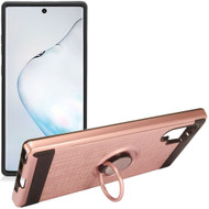*Sale* Multifunctional Hybrid Armor Case with Smart Loop Ring Holder for Samsung Galaxy Note 10 Plus - Rose Gold