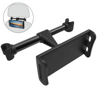 Car Headrest Mount for Smartphones and Tablets - Black