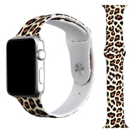 High Fashion Sport Silicone Watch Band for Apple Watch 40mm / 38mm - Cheetah