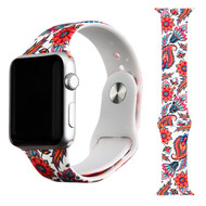 High Fashion Sport Silicone Watch Band for Apple Watch 44mm / 42mm - Bohemian Paisley