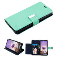 Xtra Series Essential Leather Wallet Stand Case for LG Stylo 5 - Teal Green