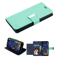 Xtra Series Essential Leather Wallet Stand Case for LG K40 - Teal Green