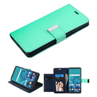 Xtra Series  Essential Leather Wallet Stand Case for LG Stylo 4 / Stylo 4 Plus - Teal Green