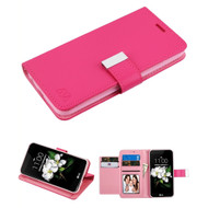 Xtra Series Essential Leather Wallet Stand Case for LG Aristo 3 / Aristo 2 Plus / Fortune 2 / Tribute Empire - Hot Pink