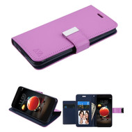 Xtra Series Essential Leather Wallet Stand Case for LG Aristo 3 / Aristo 2 Plus / Fortune 2 / Tribute Empire - Purple