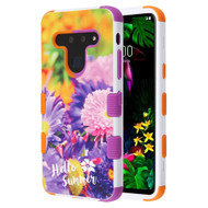 Military Grade Certified TUFF Hybrid Armor Case for LG G8 ThinQ - Chrysanthemum Field