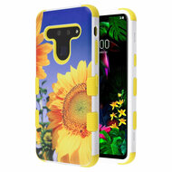Military Grade Certified TUFF Hybrid Armor Case for LG G8 ThinQ - Sunflower Field