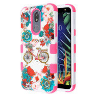 Military Grade Certified TUFF Hybrid Armor Case for LG K40 - Bicycle Garden