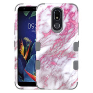 Military Grade Certified TUFF Hybrid Armor Case for LG K40 - Marble Pink