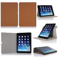 Book-Style 360 Degree Smart Rotating Case for iPad (2018/2017) / iPad Air - Brown