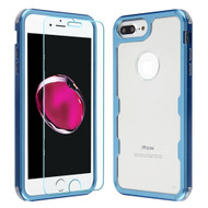 Military Grade Certified TUFF Lucid Plus Case + Tempered Glass for iPhone 8 Plus / 7 Plus / 6S Plus / 6 Plus - Cobalt