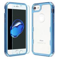 Military Grade Certified TUFF Lucid Plus Case with Tempered Glass Screen Protector for iPhone 8 / 7 / 6S / 6 - Cobalt