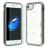 Military Grade Certified TUFF Lucid Plus Case with Tempered Glass Screen Protector for iPhone 8 / 7 / 6S / 6 - Mocha