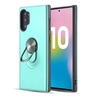 Dual Layer Fusion Case with Smart Loop Ring Holder for Samsung Galaxy Note 10 Plus - Teal