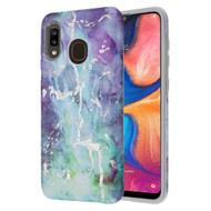 Fuse Slim Armor Hybrid Case for Samsung Galaxy A20 - Marble Green Purple