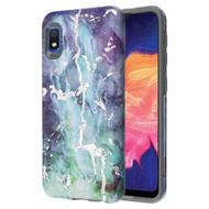 Fuse Slim Armor Hybrid Case for Samsung Galaxy A10e - Marble Green Purple