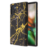 Fuse Slim Armor Hybrid Case for Samsung Galaxy Note 10 - Marble Black Gold