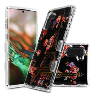 Military Grade Certified TUFF Lucid Transparent Hybrid Armor Case for Samsung Galaxy Note 10 - Paris in Full Bloom