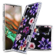 Military Grade Certified TUFF Lucid Transparent Hybrid Armor Case for Samsung Galaxy Note 10 - Purple Stargazers