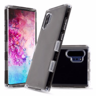 Military Grade Certified TUFF Lucid Transparent Hybrid Armor Case for Samsung Galaxy Note 10 Plus - Smoke