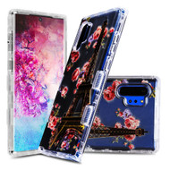 Military Grade Certified TUFF Lucid Transparent Hybrid Armor Case for Samsung Galaxy Note 10 Plus - Paris in Full Bloom
