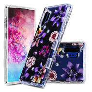 Military Grade Certified TUFF Lucid Transparent Hybrid Armor Case for Samsung Galaxy Note 10 Plus - Purple Stargazers