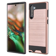 Brushed Coated Hybrid Armor Case for Samsung Galaxy Note 10 - Rose Gold