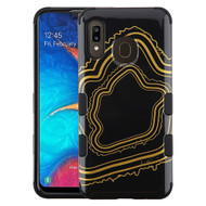 Military Grade Certified TUFF Hybrid Armor Case for Samsung Galaxy A20 - Agate Gold