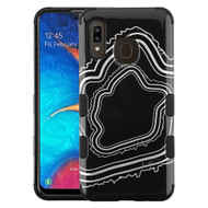 Military Grade Certified TUFF Hybrid Armor Case for Samsung Galaxy A20 - Agate Silver