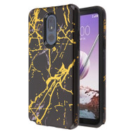 Fuse Slim Armor Hybrid Case for LG Stylo 5 - Marble Black Gold