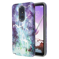 Fuse Slim Armor Hybrid Case for LG Stylo 5 - Marble Green Purple