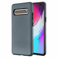 Carbon Fiber Hybrid Case for Samsung Galaxy S10 5G - Slate Blue