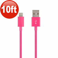 10 Ft. Lightning Connector to USB Charging and Sync Cable - Hot Pink