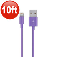 10 Ft. Lightning Connector to USB Charging and Sync Cable - Purple