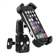 Secure Master Cell Phone Bicycle Motorcycle Handlebar Mount Holder - Black
