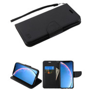 Crossgrain Series Diary Leather Wallet Stand Case for iPhone 11 - Black