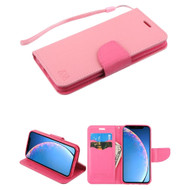 Crossgrain Series Diary Leather Wallet Stand Case for iPhone 11 - Pink