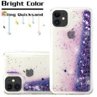 Quicksand Glitter Transparent Case for iPhone 11 - Purple